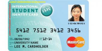 ISIC MasterCard - all in one card!